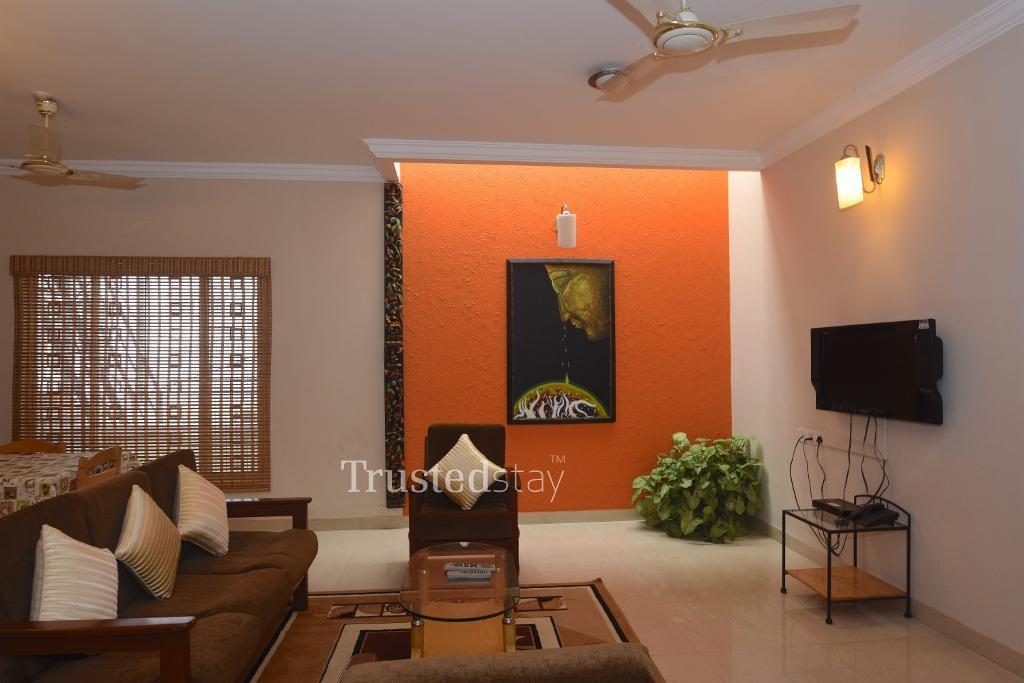 Fully Furnished Service Apartments in Bangalore | living area