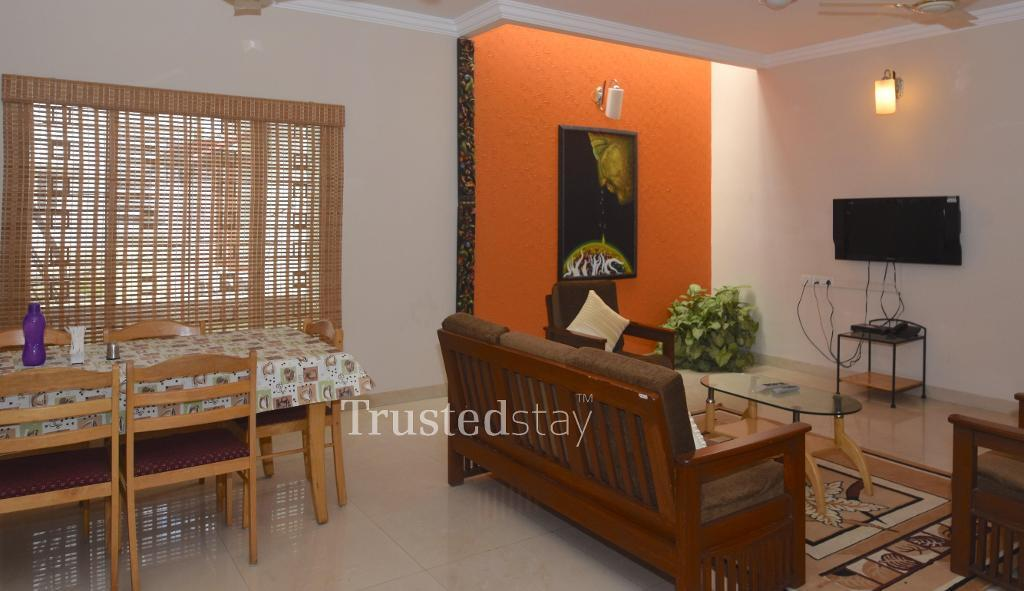 Dining area | TrustedStay  Service Apartments in Bangalore