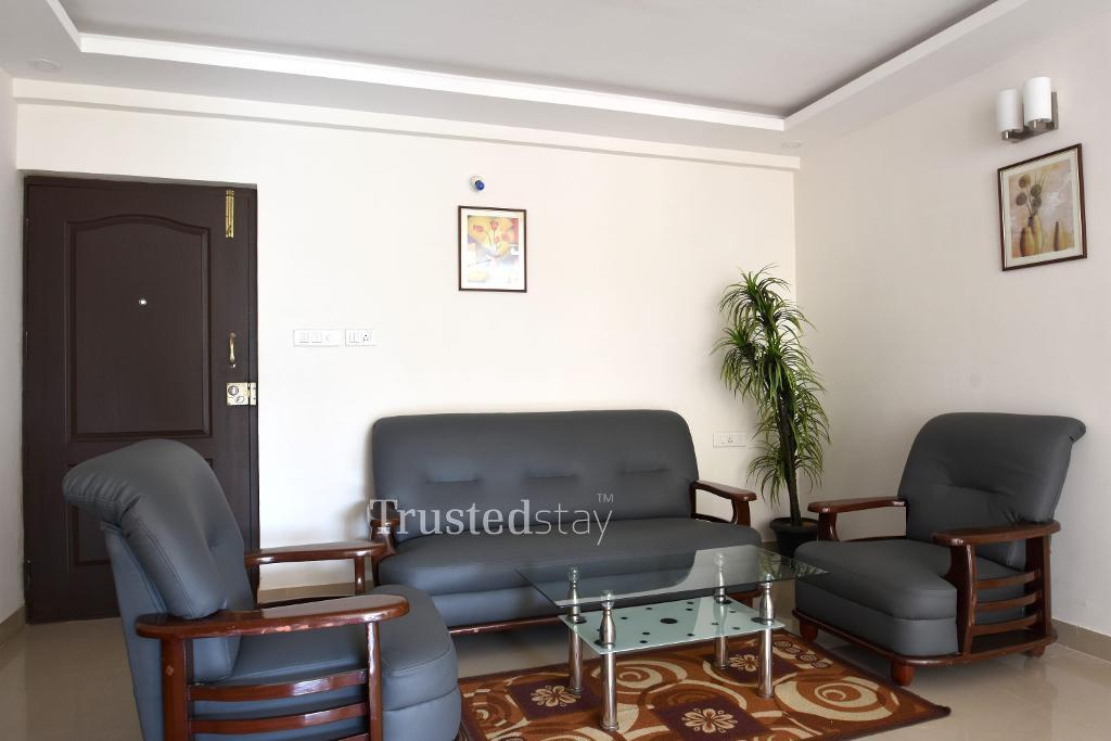 living area | Serviced Apartment in Bangalore