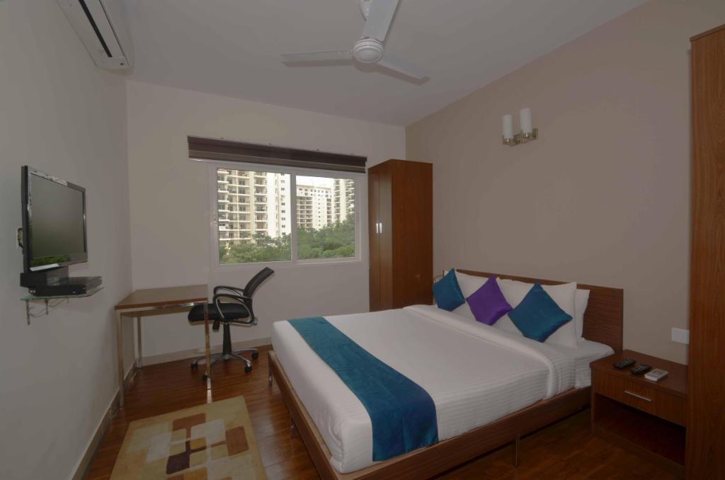 Bed room | Service Apartments in Bangalore