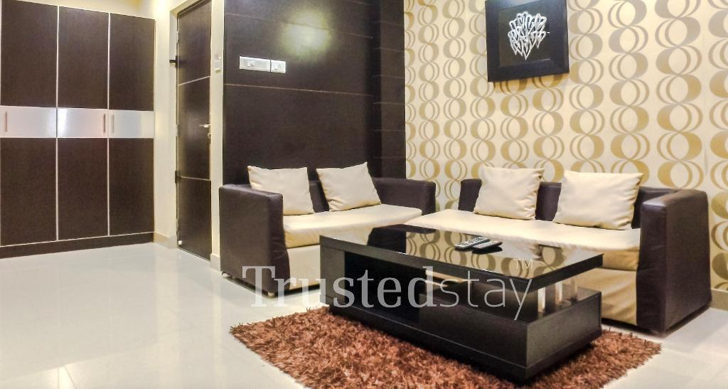 Living Area | TrustedStay serviced apartment chennai