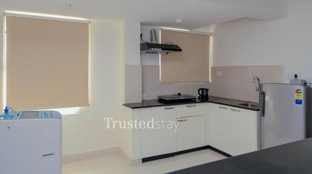 Kitchen |  Furnished Service apartments in Whitefield, Bangalore