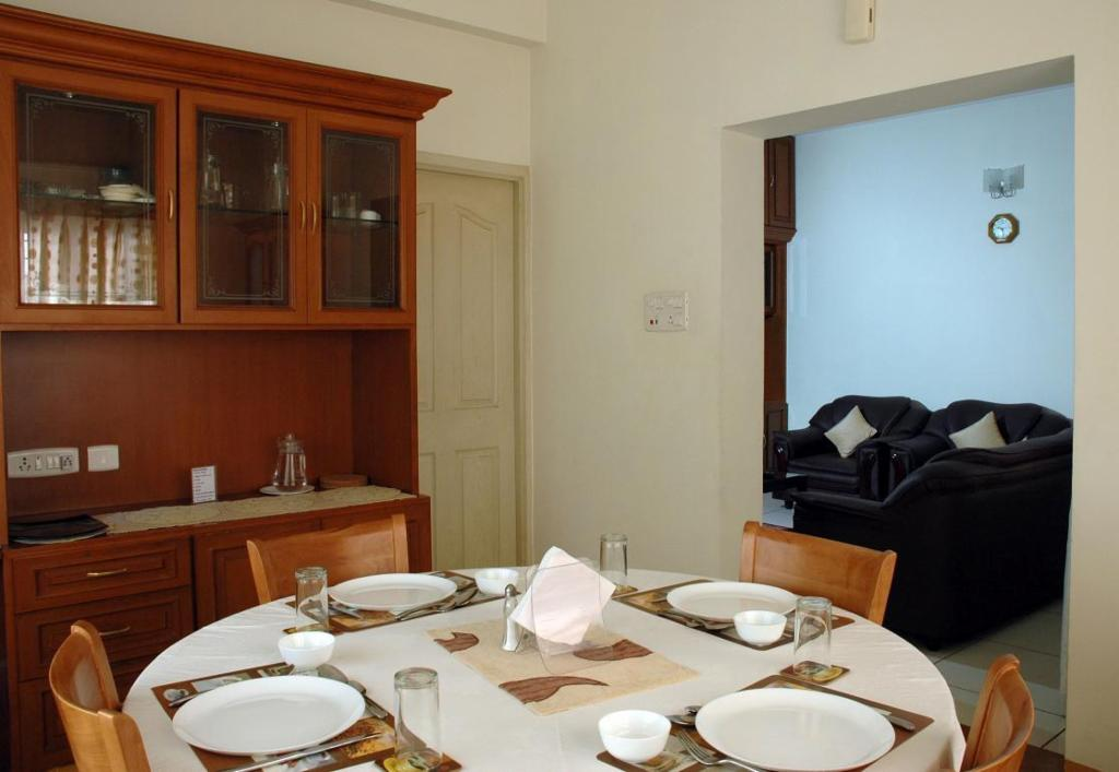Dining Area | Service apartments in Mylapore, Chennai