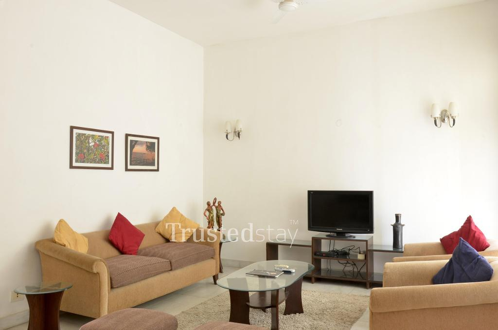 Living Area | Service Apartments in Greater Kailash, New Delhi