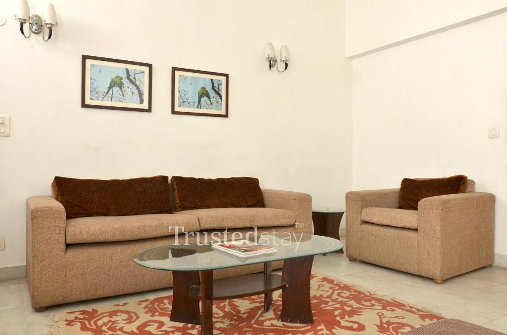Living Room | Service apartment Greater Kailash II