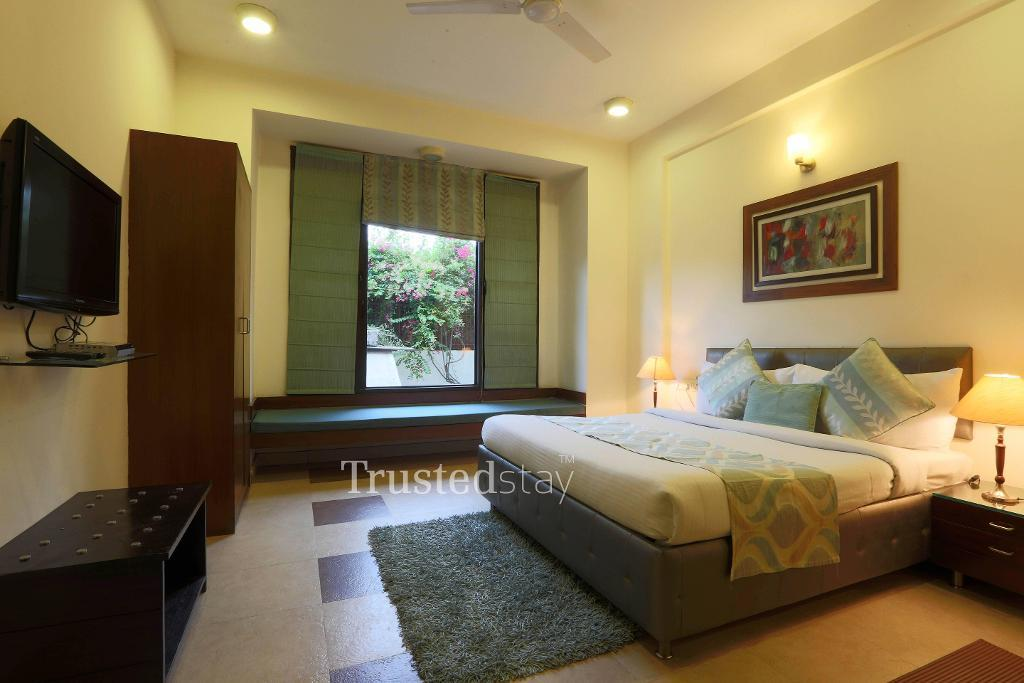 Bedroom | Service apartment is in Gurgaon, New Delhi