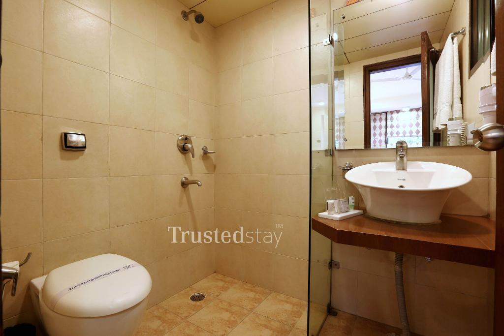 Restroom | Trustedstay Service apartments in New Delhi