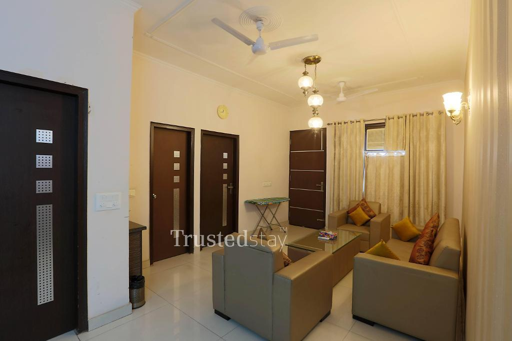 Trustedstay Service Apartments in Marathahalli | living room