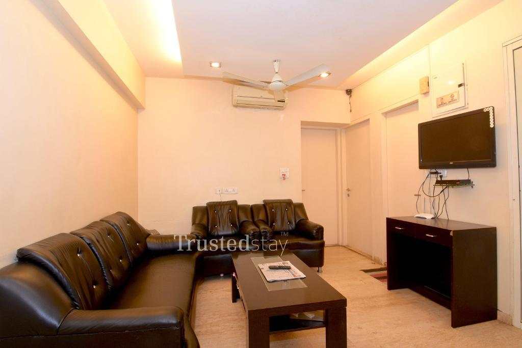 front room | serviced apartments in Powai, Mumbai